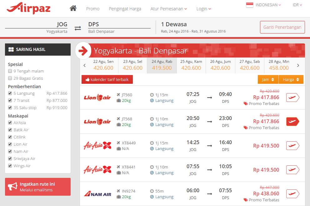 Tiket Lion Air AirPaz