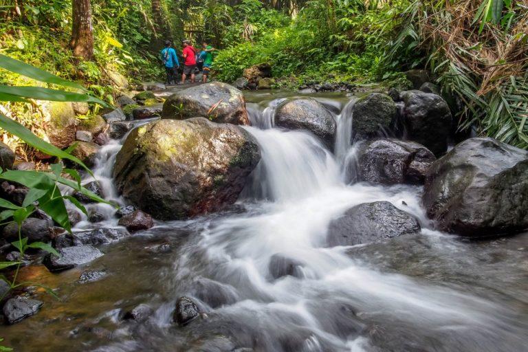 Sungai untuk kegiatan wisata di Desa Wisata Pancoh, Kabupaten Sleman